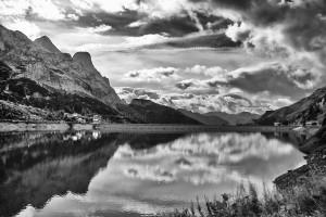 Dolomite Mountain Reflection