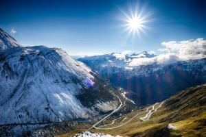 View over the Furka Pass
